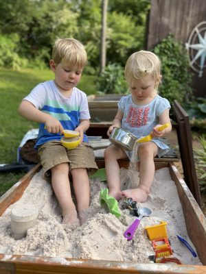 Letting nature be its own sensory bin - Montessori at Home Accidentally